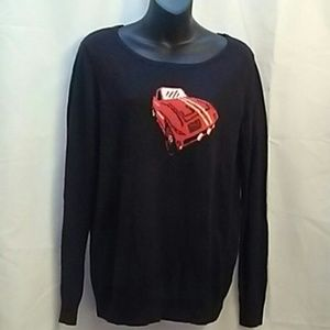 Vintage Forenza wool blend black sweater corvette
